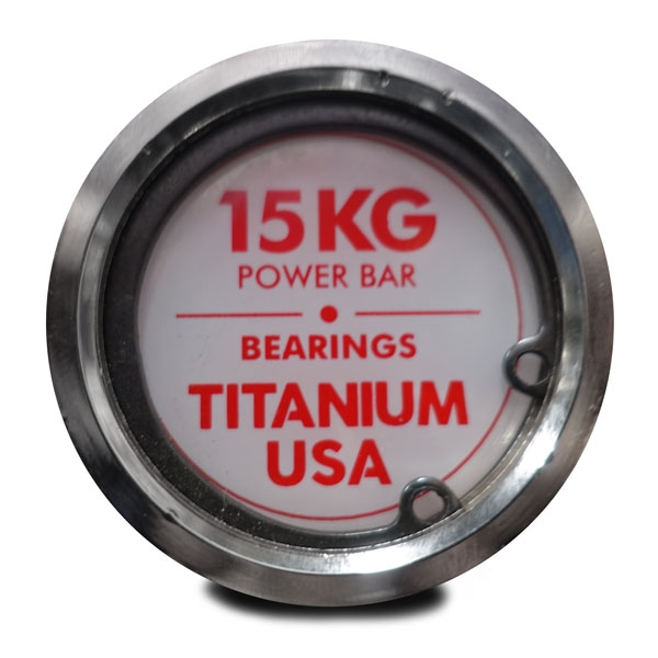 TITANIUM USA 15KG OLYMPIC POWER BARBELL
