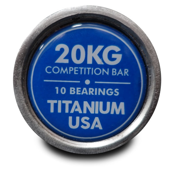 TITANIUM USA 20KG COMPETITION SERIES OLYMPIC BARBELL