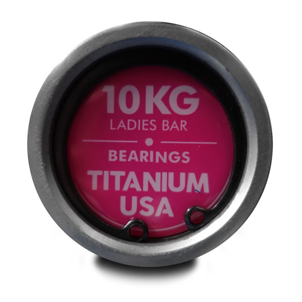 TITANIUM USA PINK 10KG OLYMPIC LADIES BARBELL