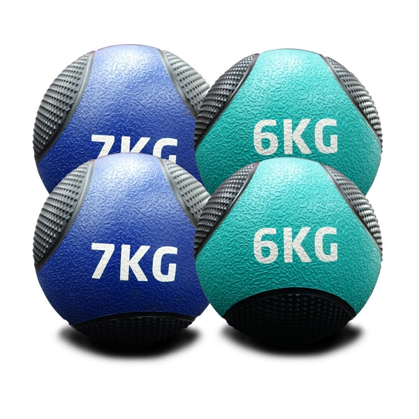 6KG TO 7KG RUBBER MEDICINE BALLS DOUBLE PACK