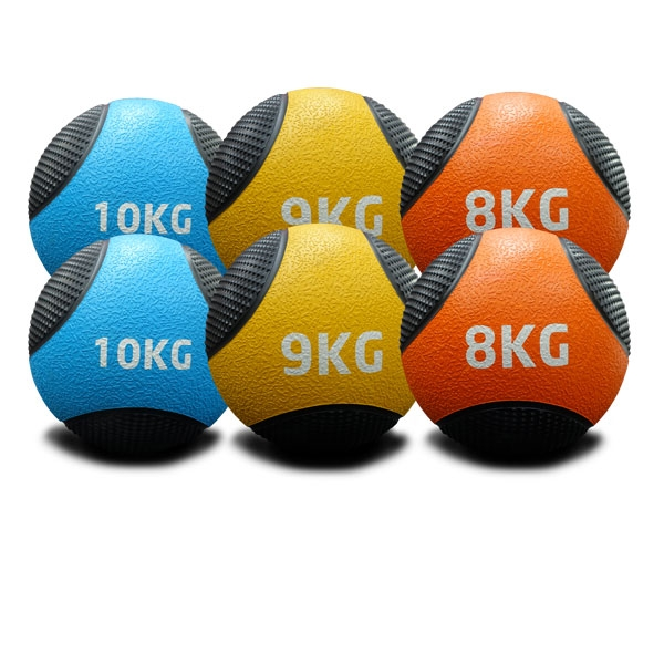 8KG TO 10KG RUBBER MEDICINE BALLS DOUBLE PACK