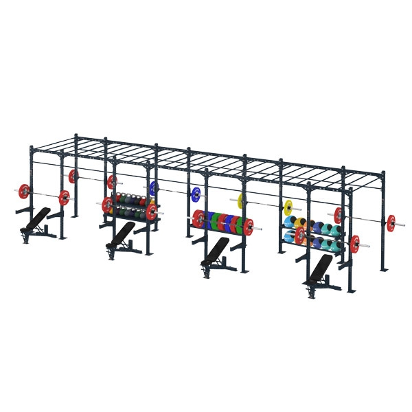 COMPETITION SERIES 7 CELL MONKEY BAR RIG WITH STORAGE CS-7CFSMBR-ST