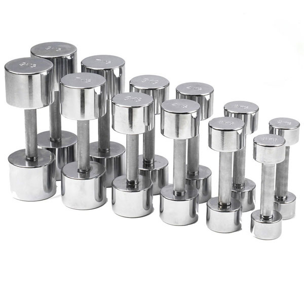 York Chrome Dumbbell Set 15kg: Commercial Fitness Equipment